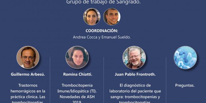 3° Reunión Científica: ¨Desafíos Diagnósticos y Terapéuticos en los Trastornos Plaquetarios¨.