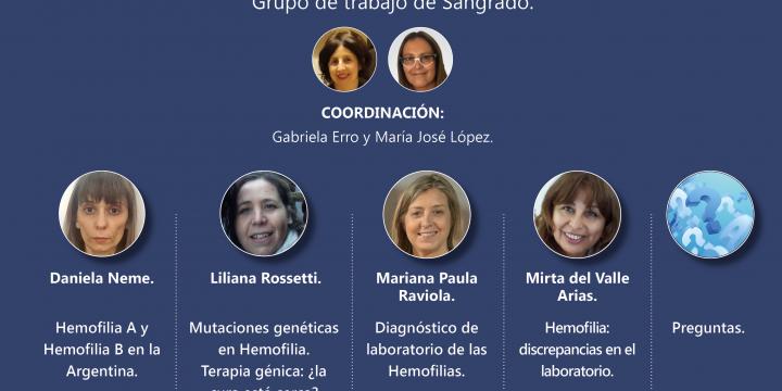 4° Reunión Científica: ¨Hemofilias: Presentación Clínica, Diagnóstico y Tratamiento. Nuevas Terapias¨.