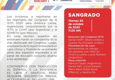 Highlights del Congreso de la ISTH 2020 ¨Temas de Sangrado¨
